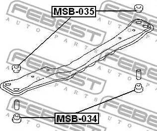 Febest MSB034 - Mounting, axle beam www.parts5.com