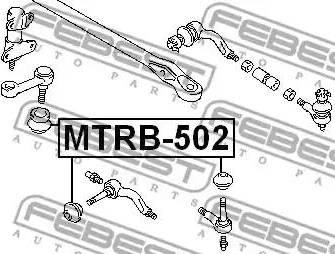 Febest MTRB502 - Repair Kit, tie rod end www.parts5.com