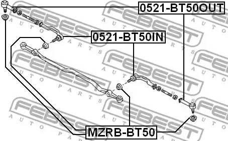 Febest MZRBBT50 - Repair Kit, tie rod end www.parts5.com