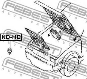 Febest NDHD - Buffer, hood www.parts5.com