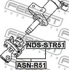 Febest NDSSTR51 - Steering Column Coupling www.parts5.com