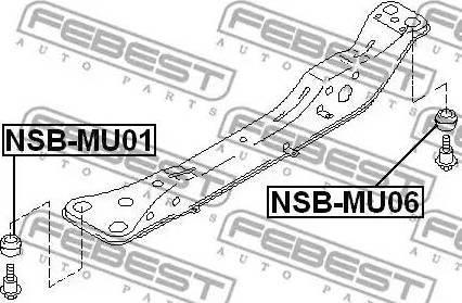Febest NSBMU06 - Mounting, axle beam www.parts5.com