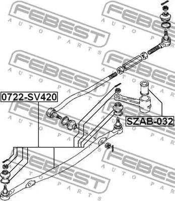 Febest SZAB032 - Bush, steering control arm www.parts5.com
