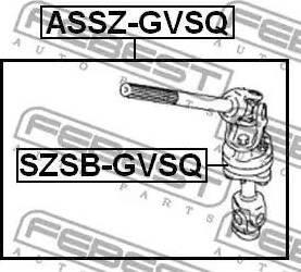 Febest SZSBGVSQ - Bush, steering shaft www.parts5.com