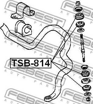 Febest TSB814 - Tie Bar Bush www.parts5.com