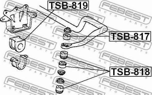 Febest TSB817 - Tie Bar Bush www.parts5.com