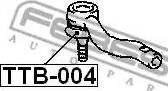 Febest TTB004 - Repair Kit, tie rod end www.parts5.com