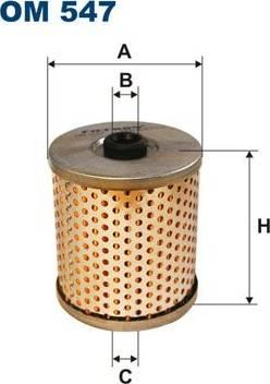Filtron OM547 - Filter, operating hydraulics www.parts5.com