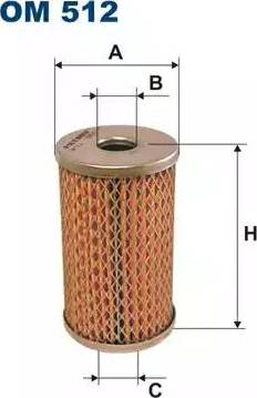 Filtron OM512 - Hydraulic Filter, steering system www.parts5.com