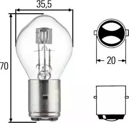 HELLA 8GD002084151 - Bulb, headlight www.parts5.com