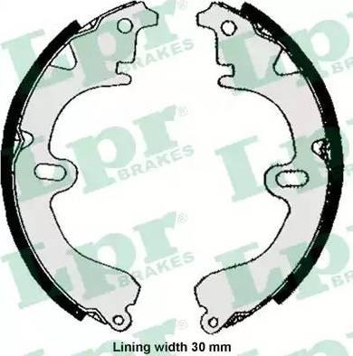 LPR 05860 - Brake Set, drum brakes www.parts5.com