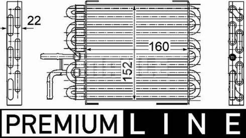 Mahle Original CK10000P - Fuel radiator www.parts5.com