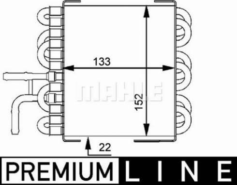 Mahle Original CK8000P - Fuel radiator www.parts5.com