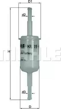 Mahle Original KL 15 OF - Fuel filter www.parts5.com