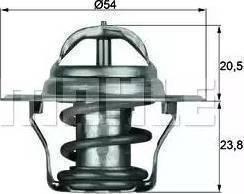 Mahle Original TX 14 87 D - Thermostat, coolant www.parts5.com