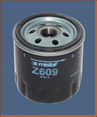 MISFAT Z609 - Oil Filter www.parts5.com
