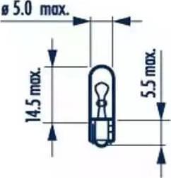 Narva 17073 - Bulb, door footwell light www.parts5.com