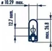 Narva 17097 - Bulb, door footwell light www.parts5.com