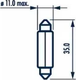Narva 17125 - Bulb, door footwell light www.parts5.com