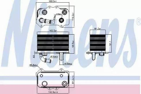 Nissens 90934 - Oil Cooler, manual transmission www.parts5.com