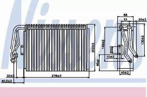 Nissens 92097 - Evaporator, air conditioning www.parts5.com
