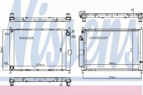 Nissens 637625 - Cooler Module www.parts5.com