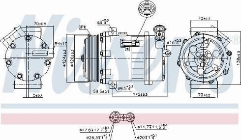 Nissens 890063 - Compressor, air conditioning www.parts5.com