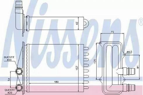 Nissens 73468 - Heat Exchanger, interior heating www.parts5.com