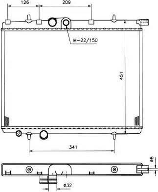NRF 509525 - Cooler, drive battery www.parts5.com