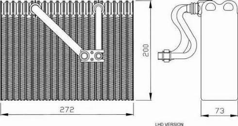 NRF 36088 - Evaporator, air conditioning www.parts5.com