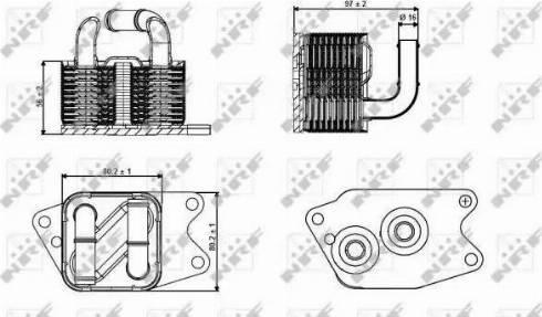 NRF 31265 - Oil Cooler, automatic transmission www.parts5.com