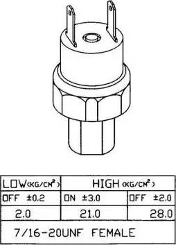 NRF 38919 - Pressure Switch, air conditioning www.parts5.com