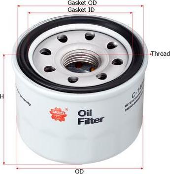 SAKURA Automotive C-14090 - Oil Filter www.parts5.com