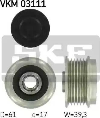 SKF VKM03111 - Alternator Freewheel Clutch www.parts5.com