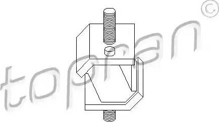 Topran 500010 - Mounting, automatic transmission www.parts5.com