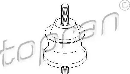 Topran 500011 - Mounting, automatic transmission www.parts5.com