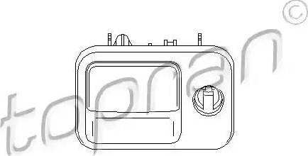 Topran 109077 - Glove Compartment Lock www.parts5.com