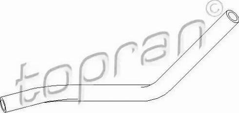 Topran 111980 - Hydraulic Hose, steering system www.parts5.com