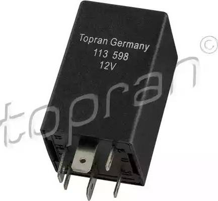 Topran 113598 - Relay, air conditioning www.parts5.com