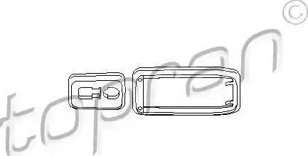 Topran 112284 - Door-handle Frame www.parts5.com
