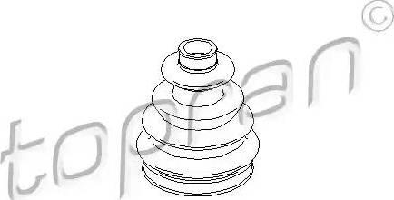 Topran 300300 - Bellow, driveshaft www.parts5.com