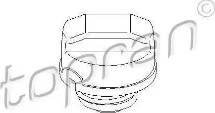 Topran 205928 - Sealing Cap, fuel tank www.parts5.com