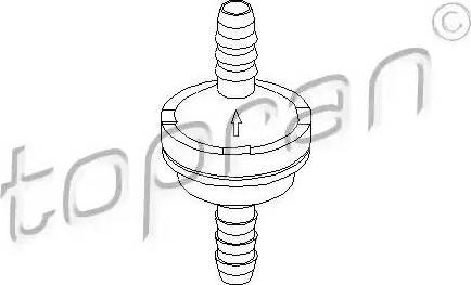 Topran 206111 - Valve, brake booster www.parts5.com
